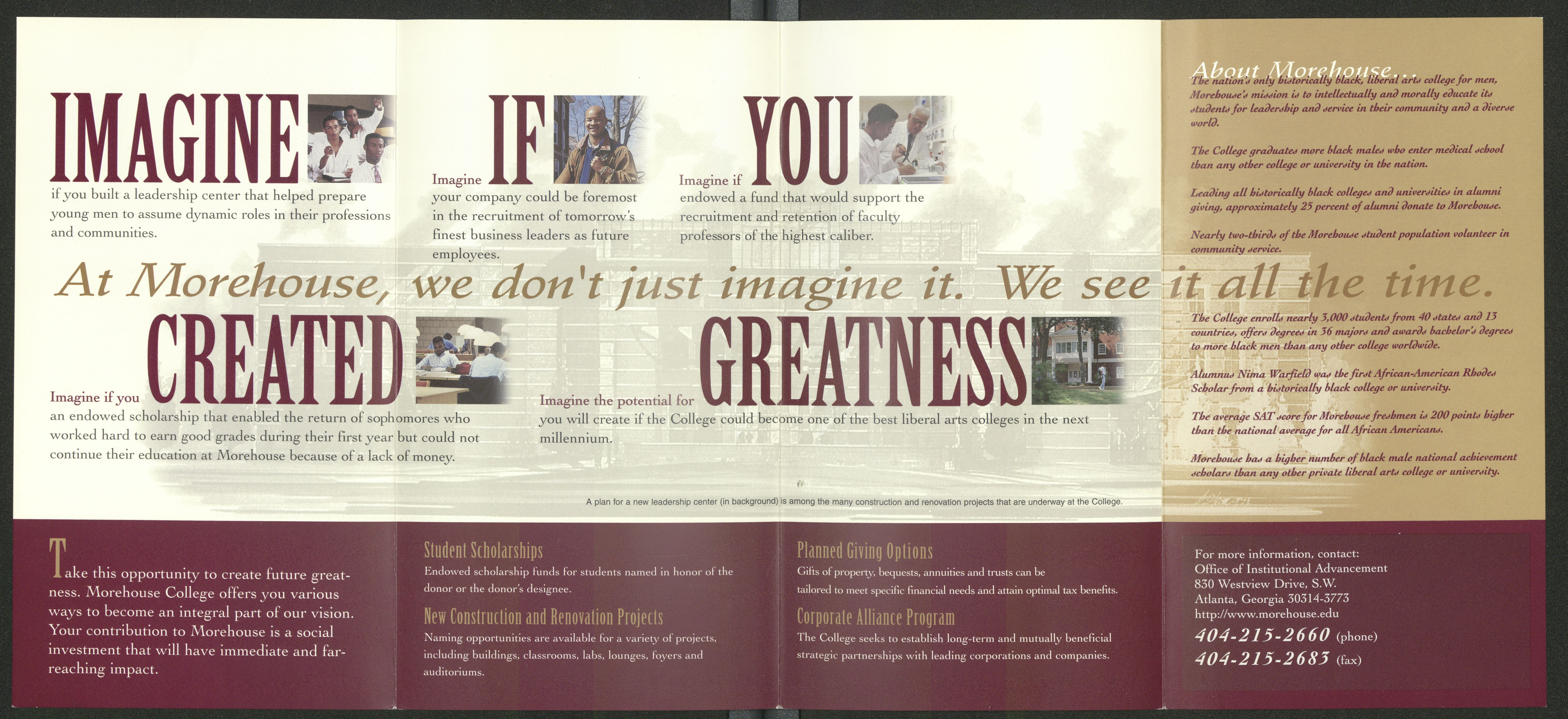 Morehouse College Brochure; [2008]<br />