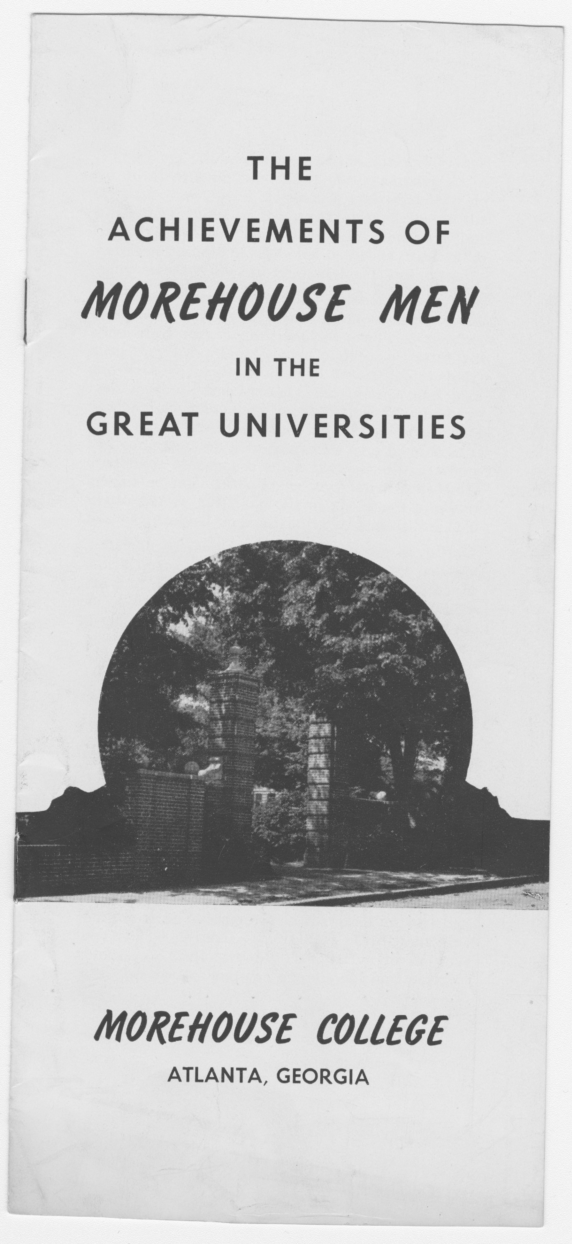 """The Achievements of Morehouse Men"" Brochure; circa 1948<br />"