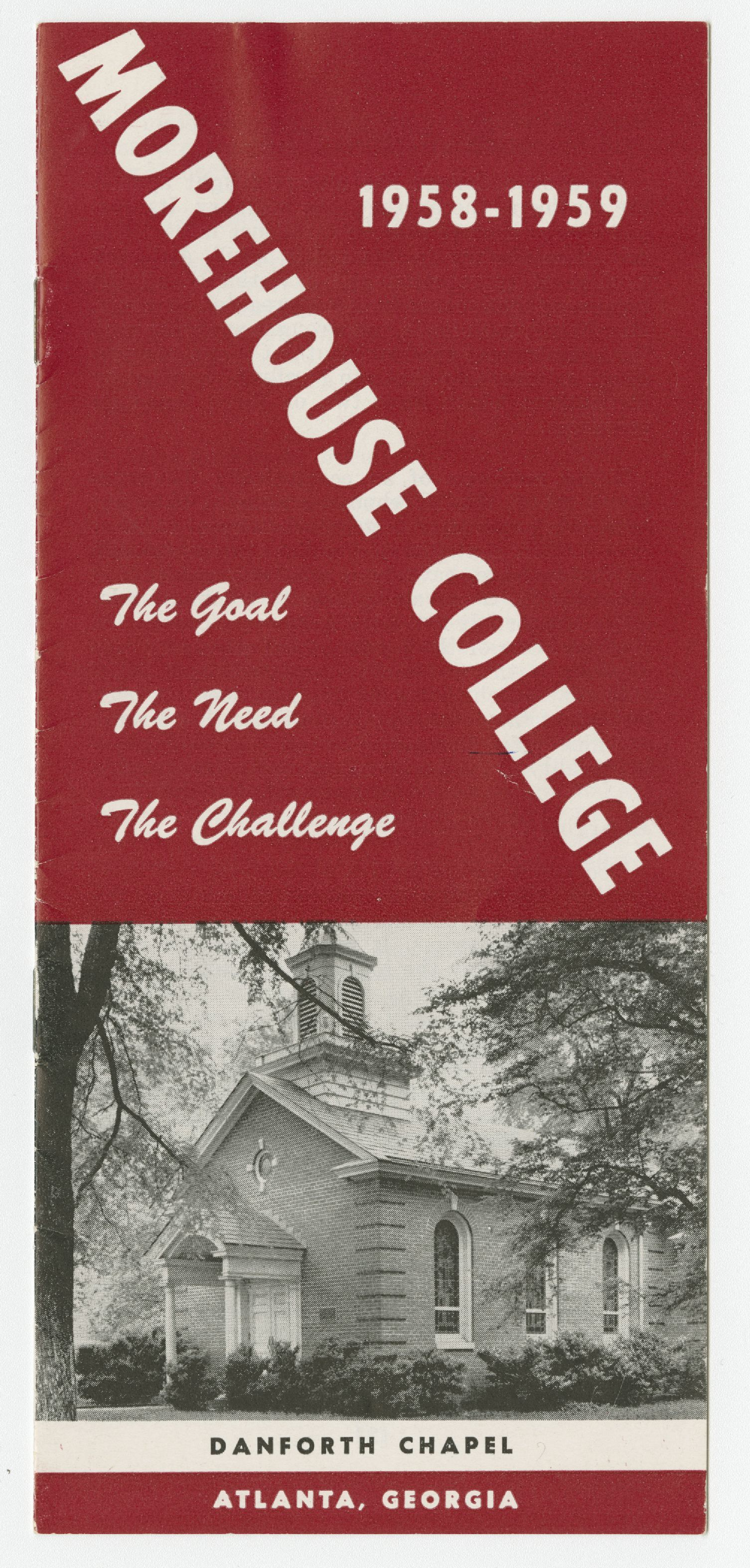 """The Goal, the Need, the Challenge""; 1958<br />"