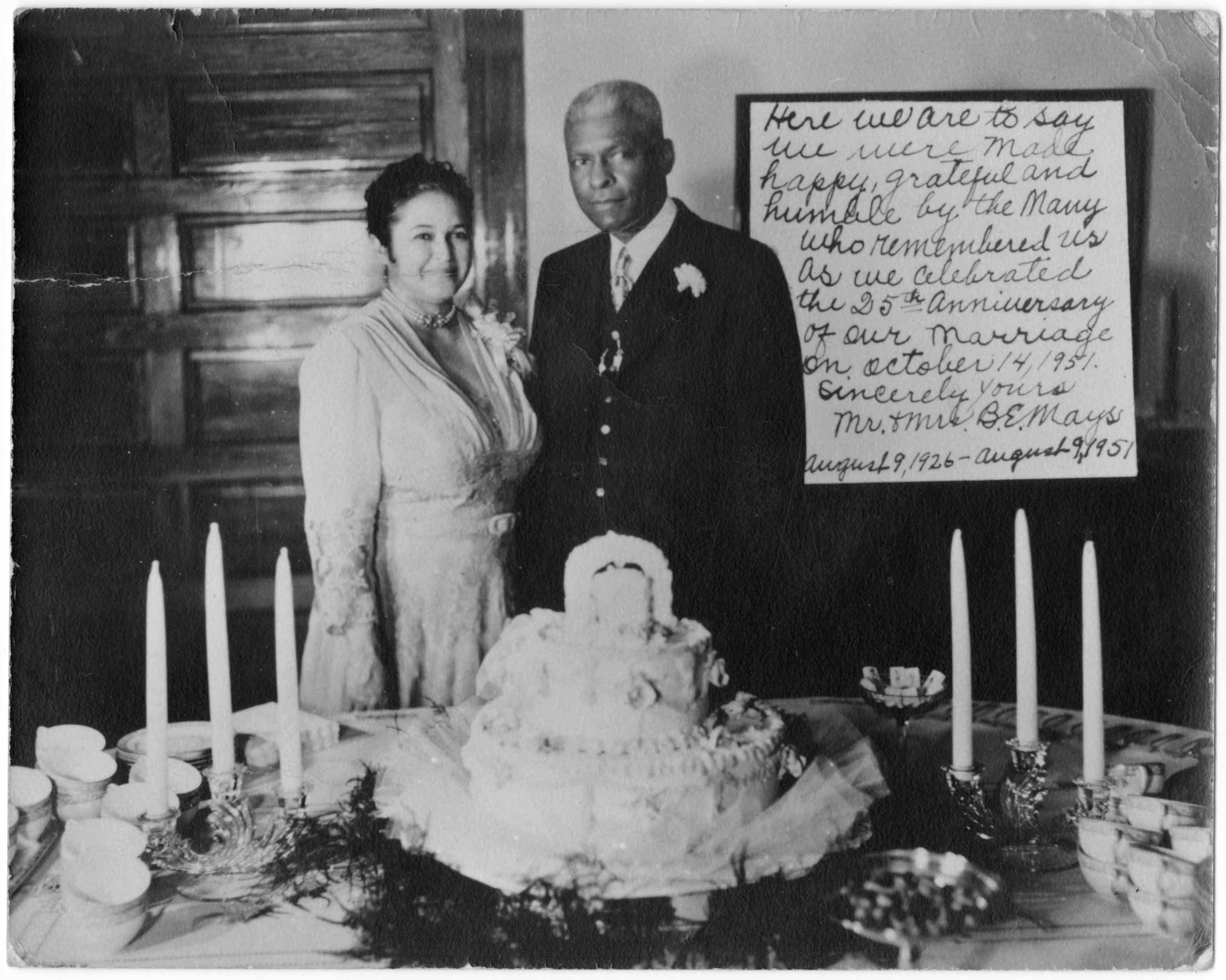 Mays and wife