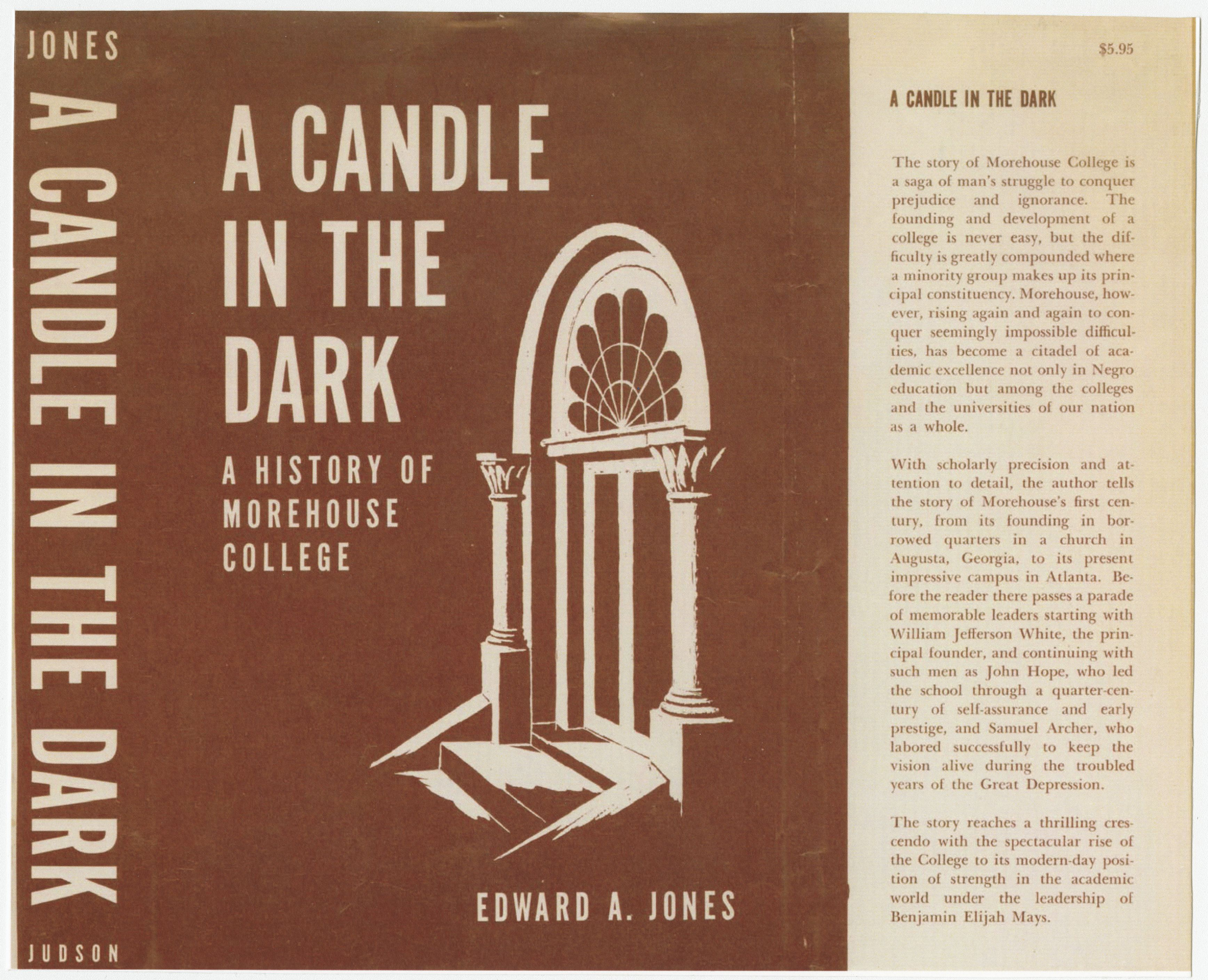 Candle in the Dark book sleeve; 1967<br />