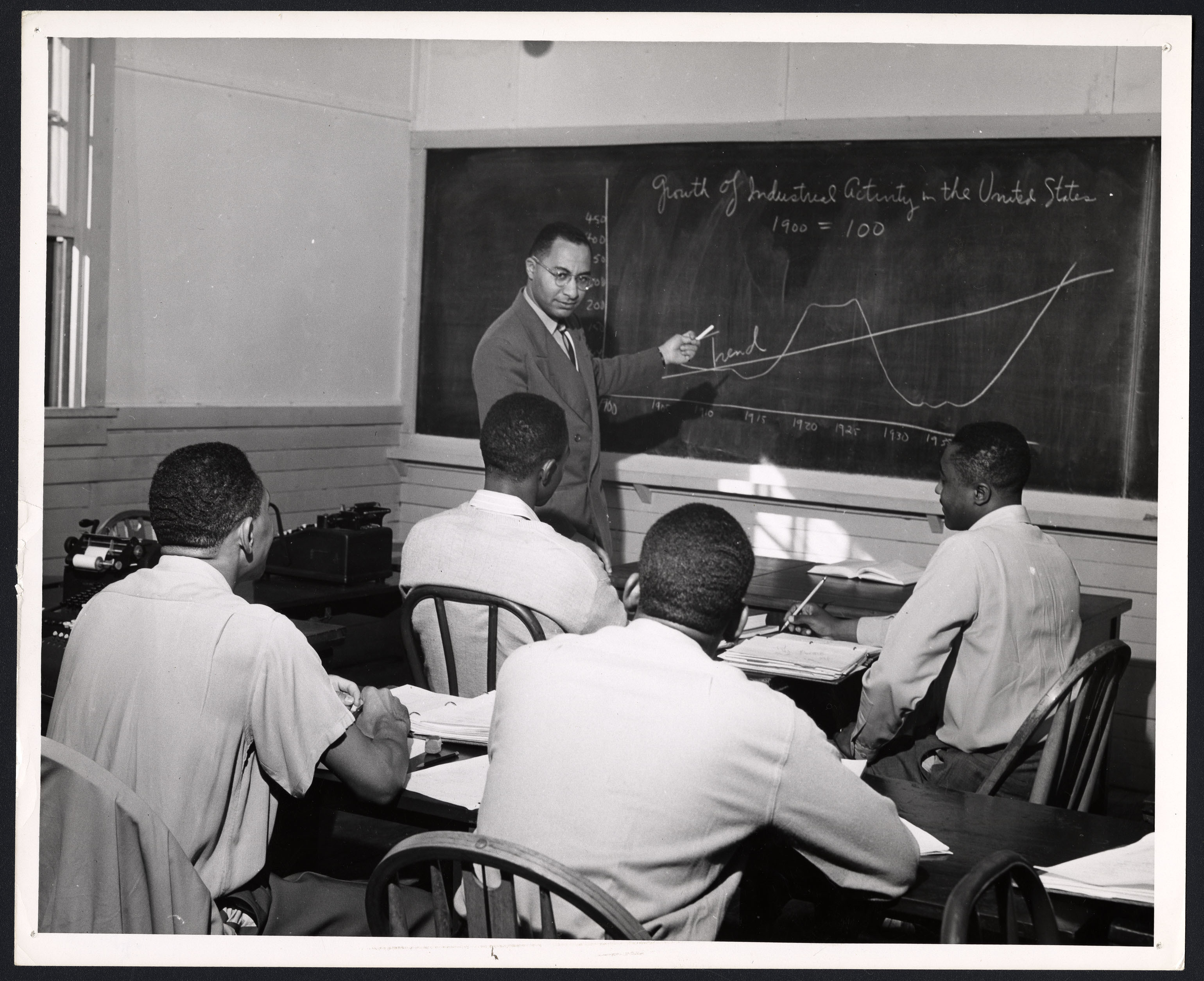 Unidentified Students and Professor in Classroom