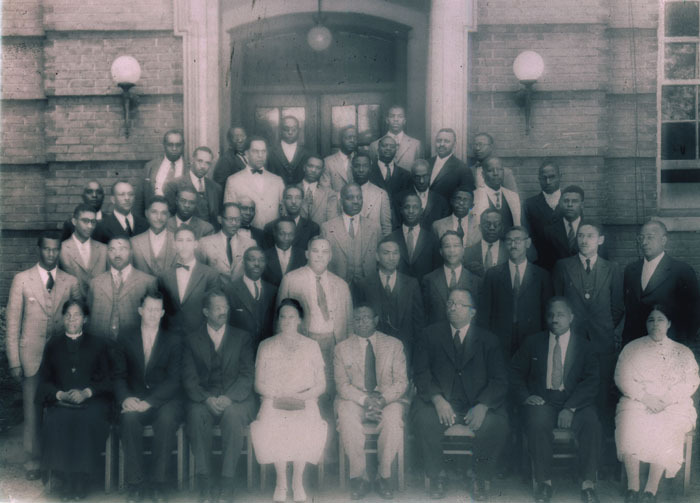 Annual Institute for the Training and Improvement of Baptist Ministers, which was founded in 1945, and was co-sponsored by Morehouse and the Home Mission Board of the Southern Baptist Convention, c. 1950s.<br />