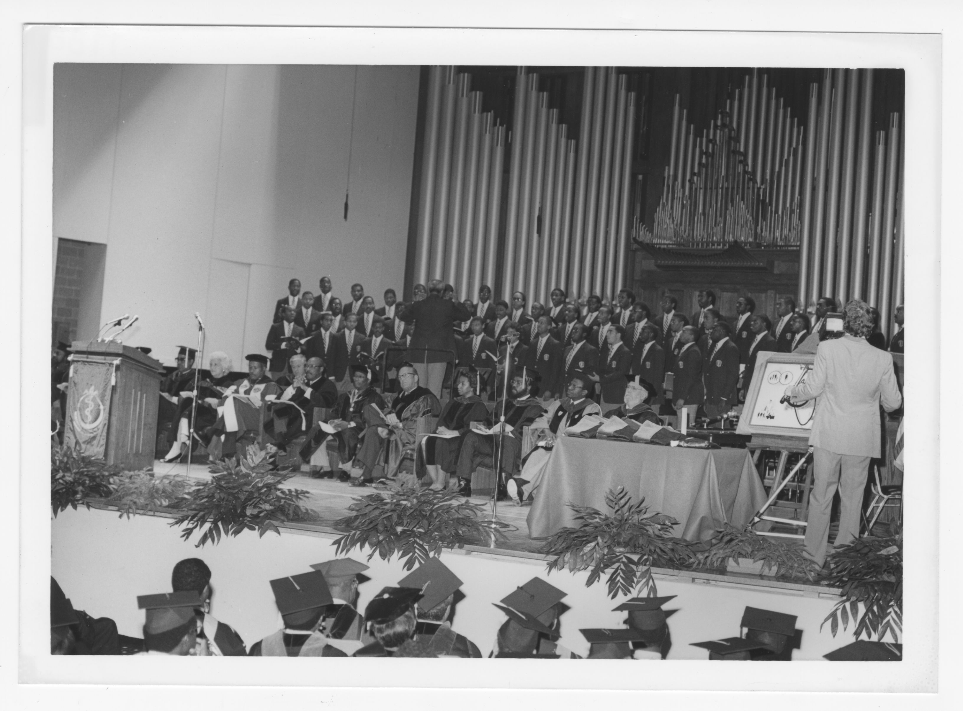 Morehouse School of Medicine First Commencement, Photograph; 1985<br />