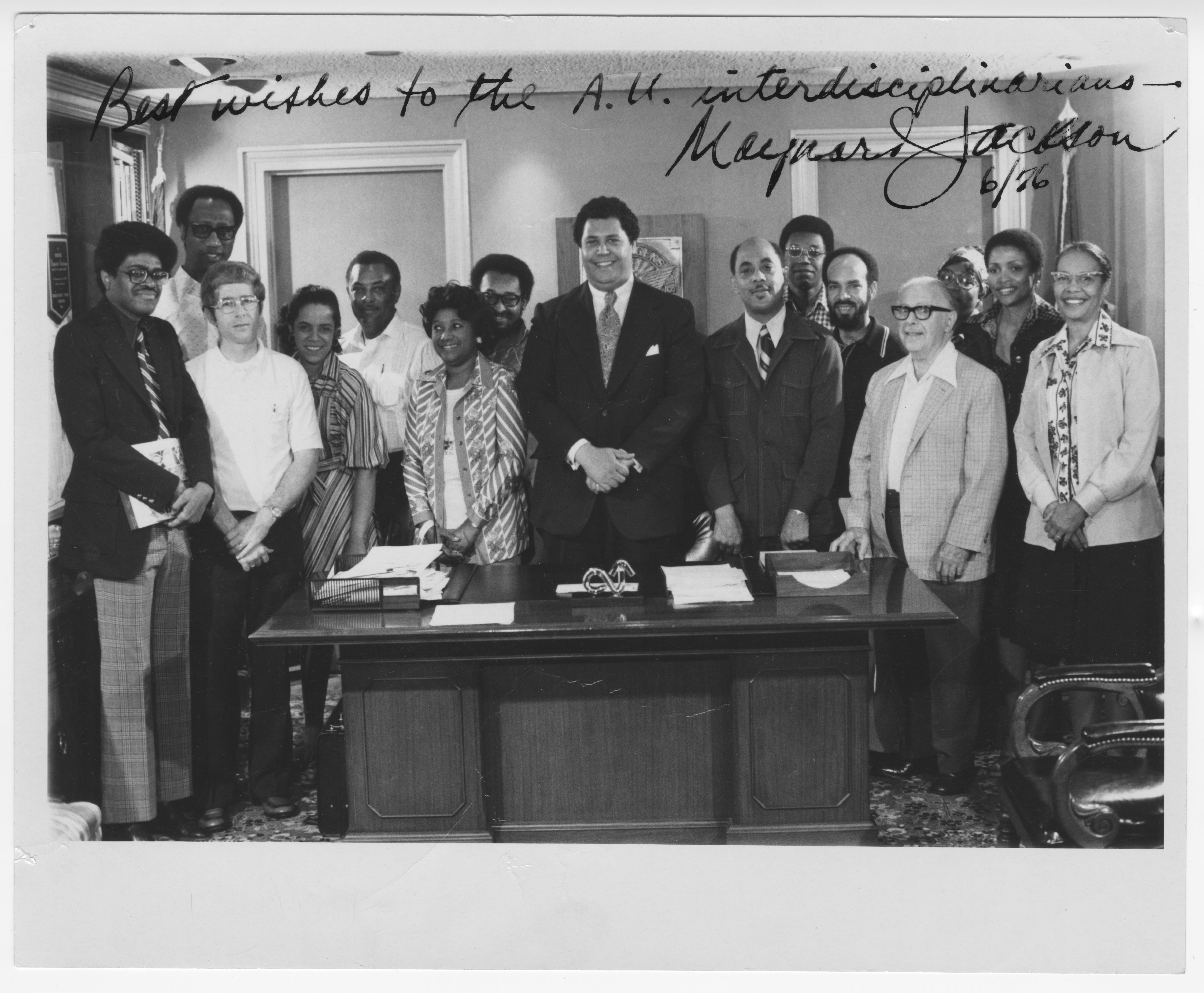 The Mirror Grant Project with Maynard Jackson; July 1976<br />