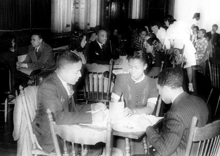 Students in Howe Hall, Spelman, c. 1955<br />