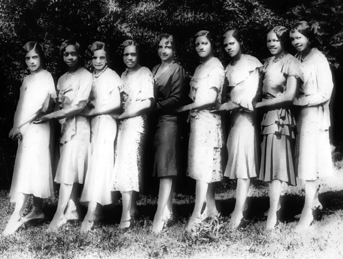 Charter members of Sigma chapter, Delta Sigma Theta Sorority, Clark, 1930<br />