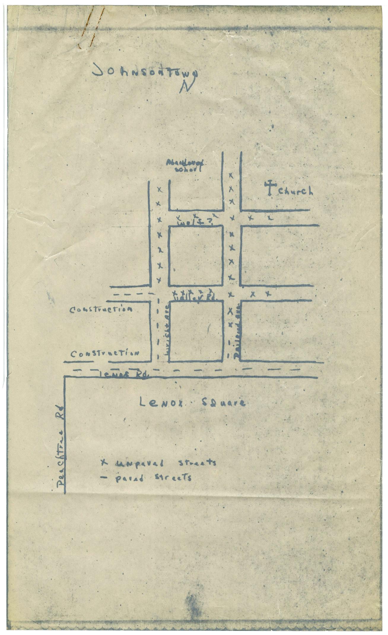 Map of Johnsontown