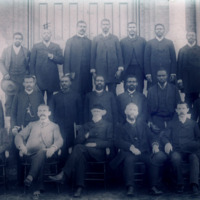 Faculty and students, Atlanta Baptist Seminary (later Morehouse), 1890<br />