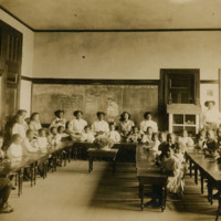 Grammar school class, Atlanta University, c. 1890<br />