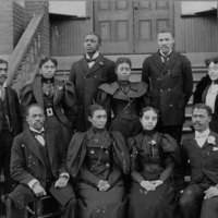 Faculty, Morris Brown, c. 1900; the only AUC faculty that was all-Black during early years.<br />