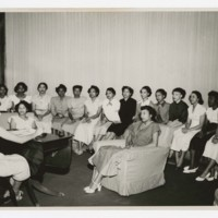 Unidentified Sorority at a Meeting