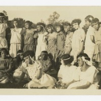 A Group Portrait of Unidentified Young Women