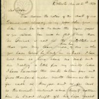 Letter from Frederick Douglass to [Clarance]<br />