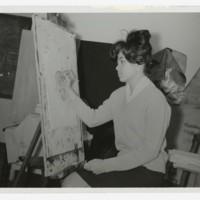 Unidentified Art Department Student