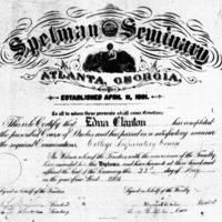 Diploma of Edna Clanton, Spelman, 1901<br />