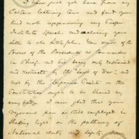 """Letter from Frederick Douglass to """"Sir""""<br />"""