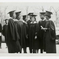 Seven Unidentified Graduates at Commencement
