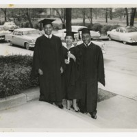 Three Unidentified Graduates at Commencement