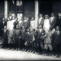 Third and Fourth grade classes of Spelman graduate Eva Spear, Jackson, GA 1913<br />