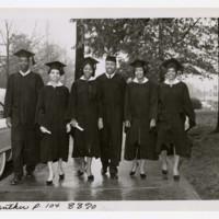 Six Unidentified Graduates at Commencement