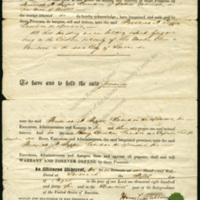 Legal contract between two free people of color (Savannah, Ga.)<br />