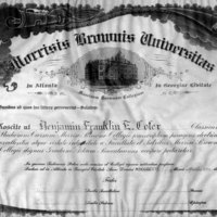 Diploma of Benjamin Cofer, Morris Brown College, 1916<br />