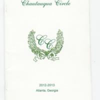 2012-2013 Chautauqua Circle Year Book