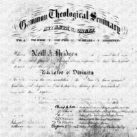 Diploma of Neil Bridges, Gammon, 1910<br />