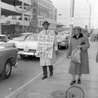 Otis Moss, Jr. walking picket line