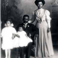Drew Days and wife Hattie Duval, a Spelman graduate and their children, Gainesville, FL, c. 1900.<br />
