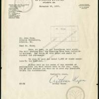 Letter from Arthur Raper (Southern Commission on the Study of Lynching) to John Hope (Atlanta University)