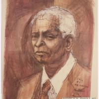 Drawing of Benjamin E. Mays