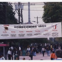View of Campus Gate During Homecoming Week