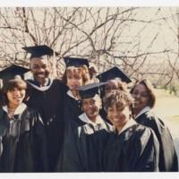 Seven Unidentified Graduates at Commencement