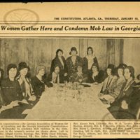 """""""Women Gather Here and Condemn Mob Law In Georgia""""<br />"""