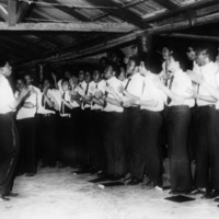 Morehouse Glee Club performs in Ghana, c. 1970s.<br />