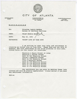 Correspondence from Chief Eldrin Bell to Cedric Maddox