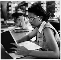 Unidentified Student in Library
